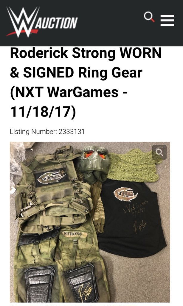 Please follow the link and bid! The money I receive from this I will be donating to specialops.org in honor of one of my buddy #DustinYates who we lost a little over 2yrs ago to suicide. auction.wwe.com/iSynApp/auctio… #StopSoldierSuicide #PTSDsucks