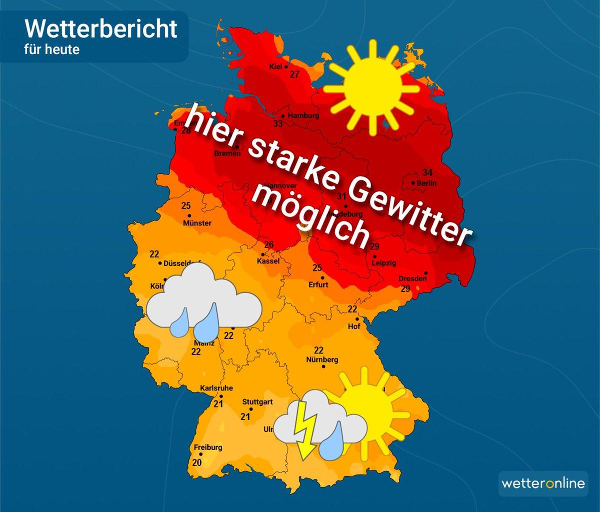 Wetteronline De On Twitter Zwischen Hamburg Und Berlin Wird Es