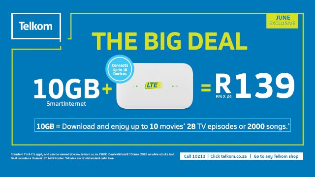 telkom router deals