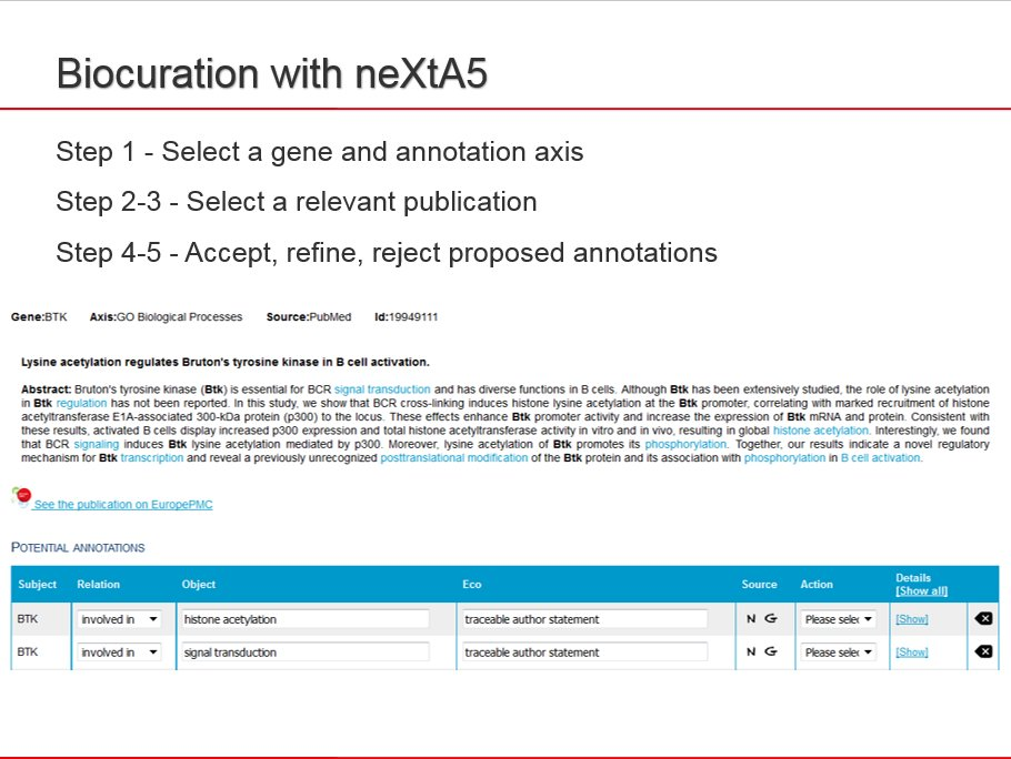#ELIXIR18 #AHM neXtProt presenting evaluation of #TextMining in #Biocuration workflow in Berlin 🇩🇪 in workshop Monday aft. @ELIXIREurope @patrickruch @ISBSIB https://t.co/4WFbu4Am9h