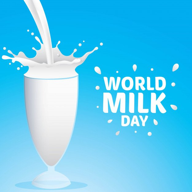 World Milk Day - 1 June  IMAGES, GIF, ANIMATED GIF, WALLPAPER, STICKER FOR WHATSAPP & FACEBOOK