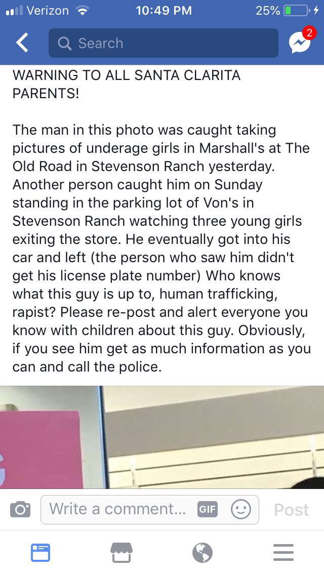 🚨PLEASE READ🚨 my friend just sent me this. If you live in the Santa Clarita area, please be careful!