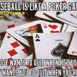 Image for the Tweet beginning: Baseball is like a poker