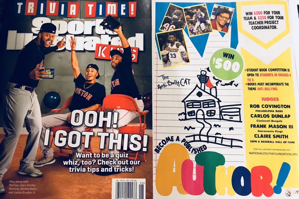 @NYFUSA has an #anti-Bullying ad in June's @SIKids featuring @FrankMason0 @Holla_At_Rob33 @Carlos_Dunlap & @MzCSmith - Words cannot express our gratitude to @SIKids for helping fight #bullying. #KindnessMatters