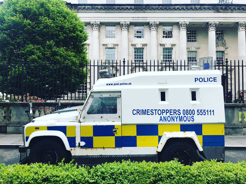 Belfast is a transformed place, if you haven't been, you should come visit. But incredible 20 years after the Good Friday Agreement and these beasts are still used by the @PoliceServiceNI
