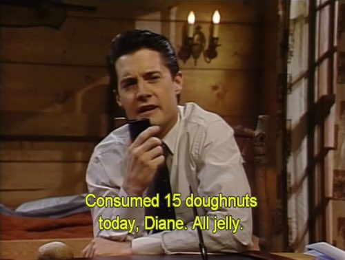 Can't think of a better way to celebrate #NationalDonutDay! #TwinPeaks