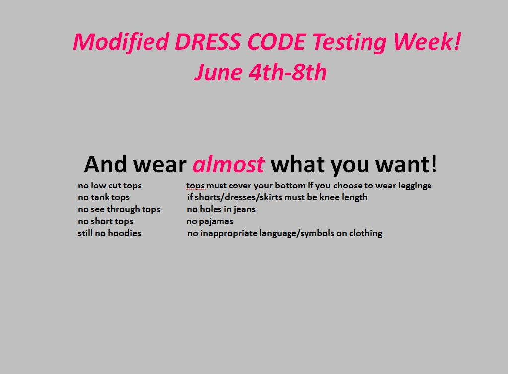 Hickory High Nc On Twitter Dress Code For Testing Week You Can