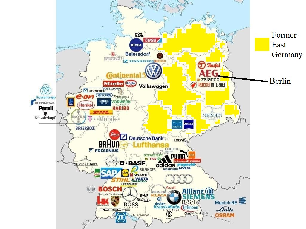 Map Of East West Germany.Simon Kuestenmacher On Twitter Map Shows Why Germany Is