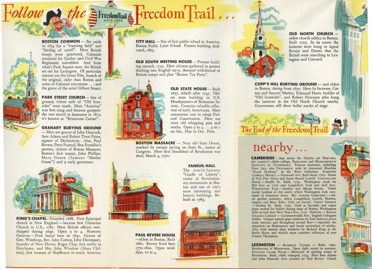 Boston City Archives On Twitter In 1943 Cityofboston Published Found This One To The Be Easiest Follow Tourist Brochure Reads Fine Roads And Clearly Marked Easy Through Routes Bring You Direct