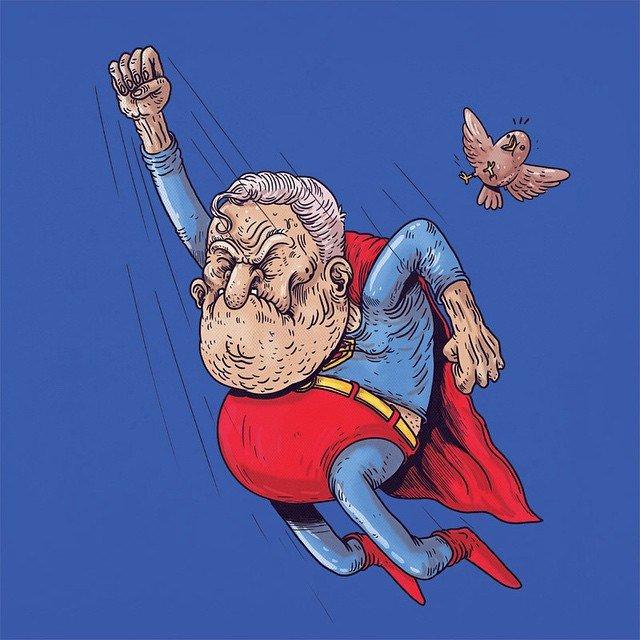 Картинки прикол супермен, поздравления днем