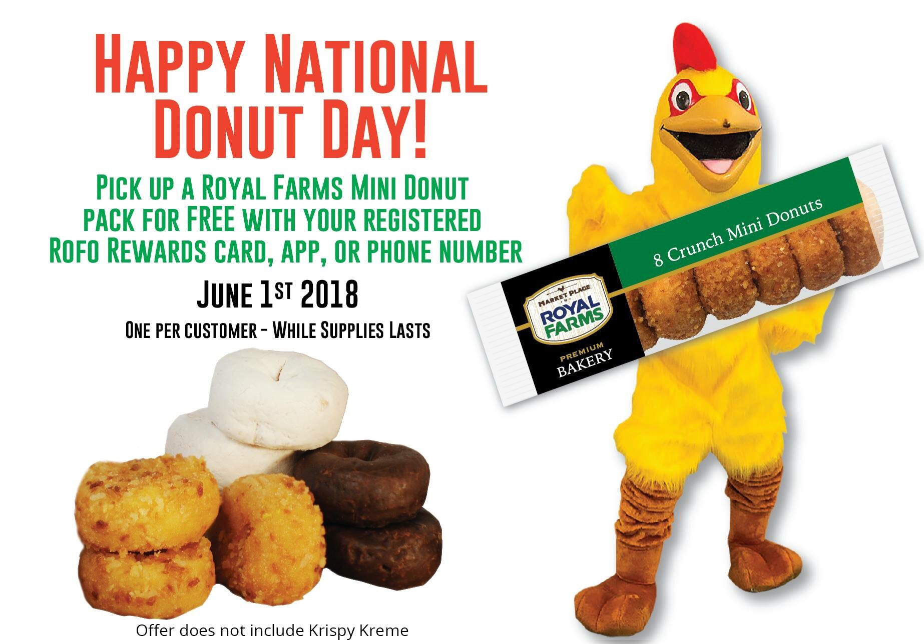 Royal Farms On Twitter Details Below For A Free Pack Of Mini Donuts Today