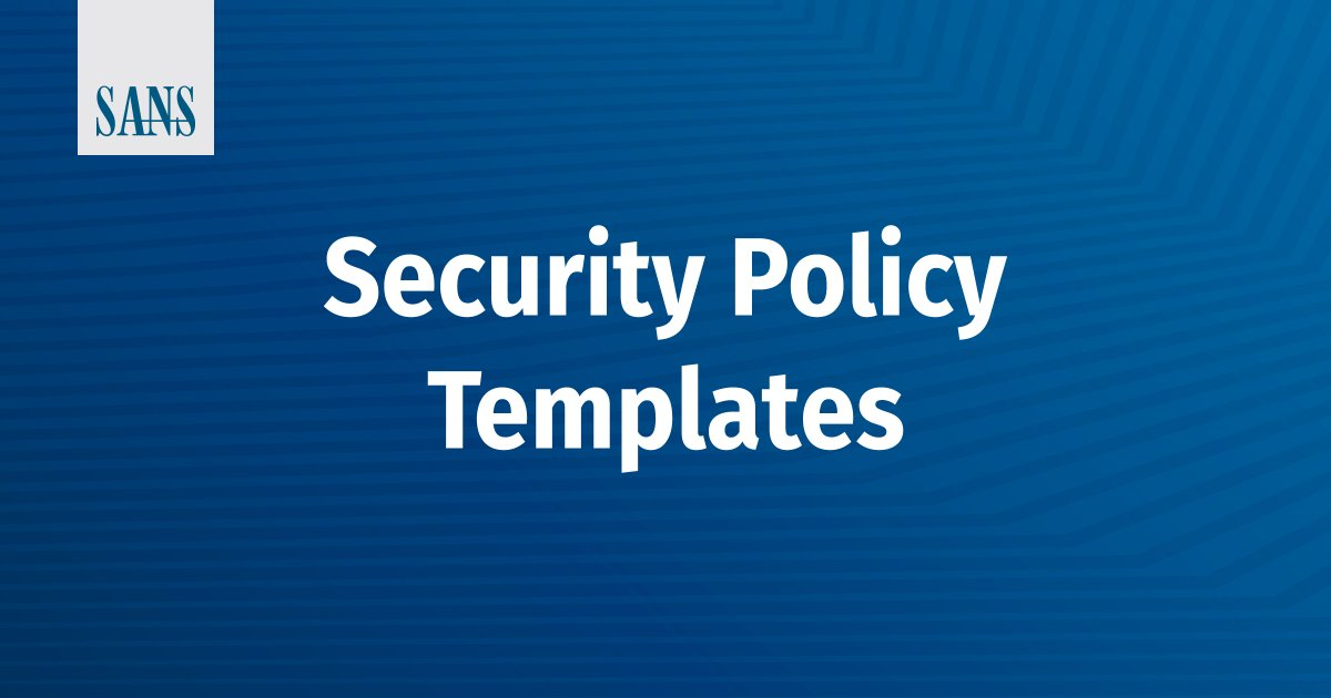 sans institute on twitter check out our networksecurity policy