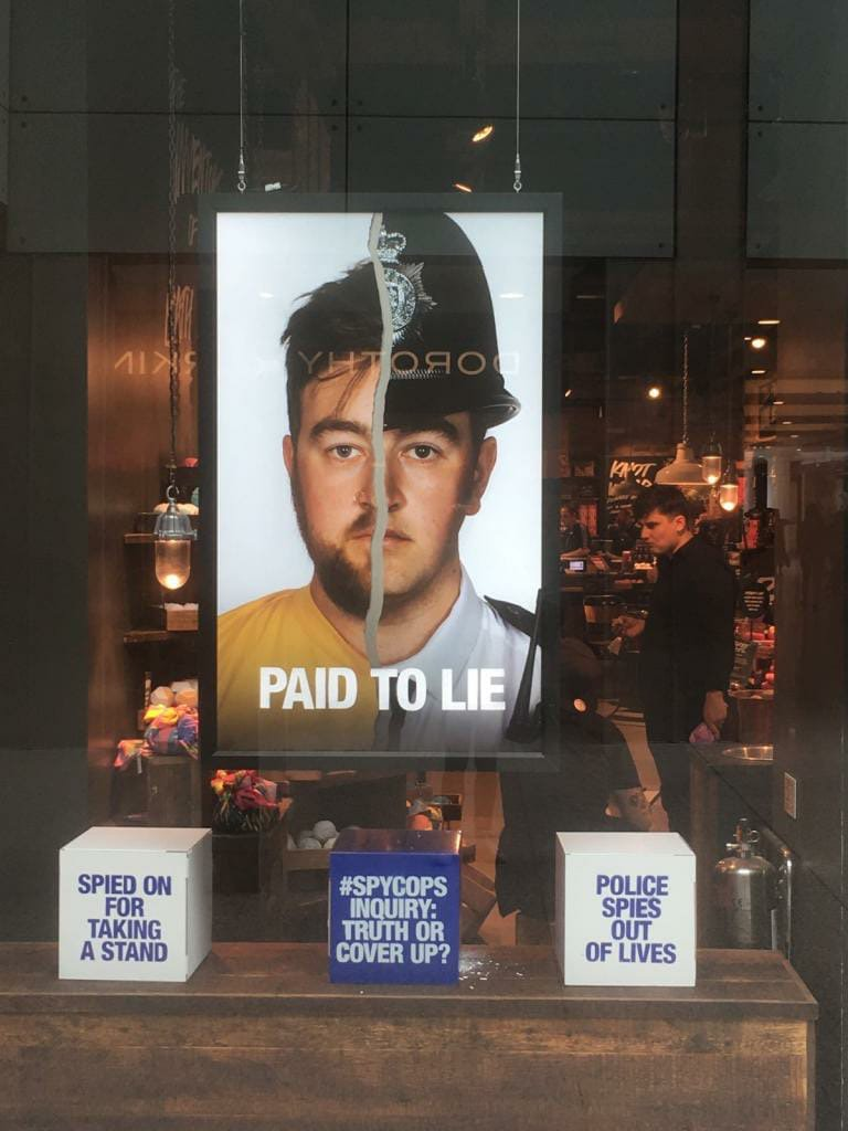 Well done to @LushLtd for highlighting the #spycops scandal. The mainstream media seem more upset about a window display, than the human rights abuses carried out by undercover political police units (that the Met Police have actually publicly admitted to & apologized for)