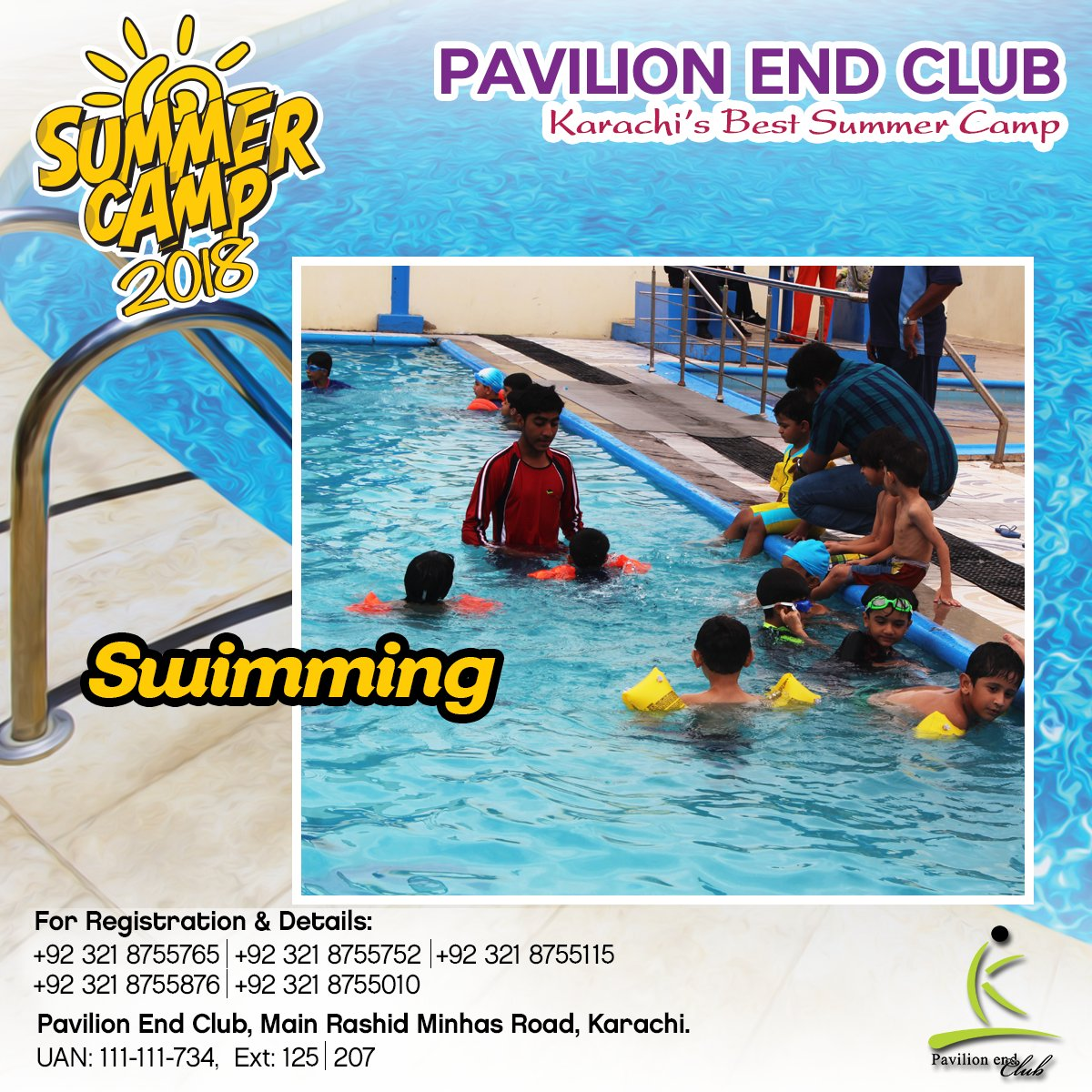 Do You Want Your Children To Learn Swimming?  Get Your Children Registered #pavilionEndClub at #PEC's Summer Camp 2018 Now !  Contact 0321-8755765 0321-8755752 #Summercamp2018 #SwimmingCourse #Professionaltrainer #PECSummercamp #registernow #PavillionEndClub https://t.co/LYgtw6rd6y