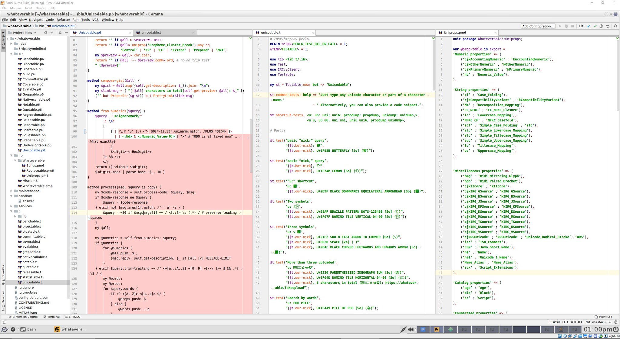 Comma IDE screen shot