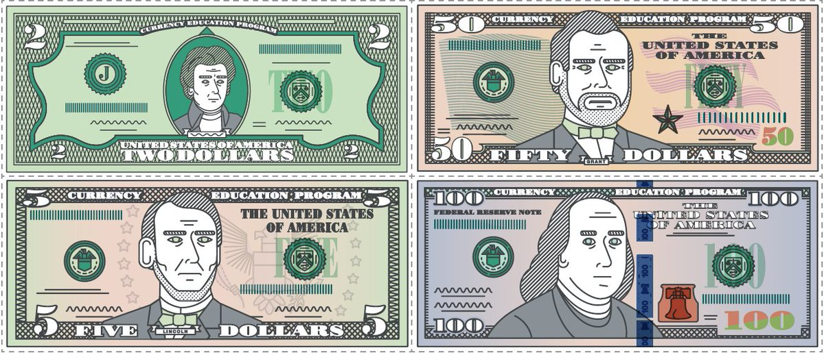 picture about Play Dollar Bills Printable known as U.S. Forex upon Twitter: \