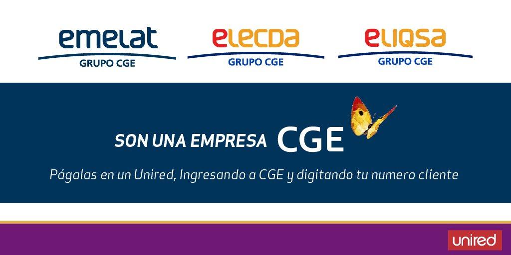 Les recordamos a nuestros clientes #emelari #elecda y #eliqsa que pueden pagar su cuenta #CGE en nuestros autoservicios #unired 🛒o en https://t.co/hFetlu1TRB 💻 @CGE_Energia 🙂👍💡 https://t.co/ERcV1m7j0L