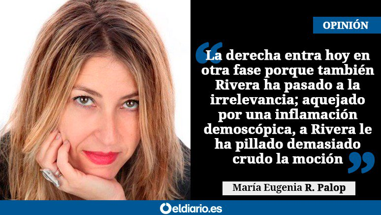 OPINIÓN | Radiografía de una moción de censura eldiario.es/zonacritica/Ra… Por @MEugeniaRPalop