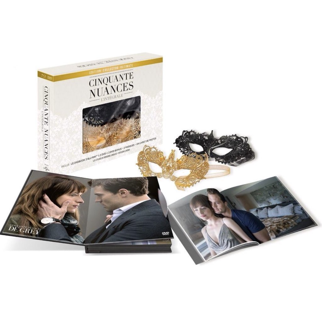 Out on the 7th of June! - Cinquante Nuances [Édition Collector Ultimate - Version longue + version cinéma - Blu-ray + DVD + 2 DVD bonus + 2 masques] https://www.amazon.fr/dp/B07BKD5CBN  #CinquantesNuancesPlusClaires #FiftyShadesFreed #FiftyShadesFrancepic.twitter.com/6tkgUzVKIo