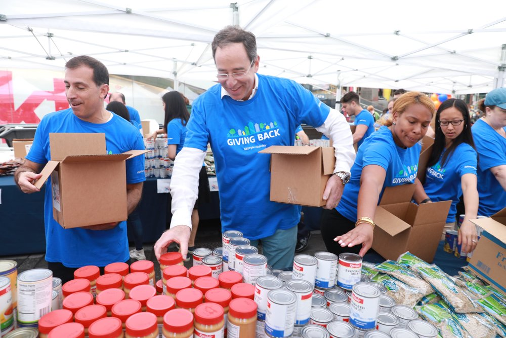 Image result for global volunteer month morgan stanley