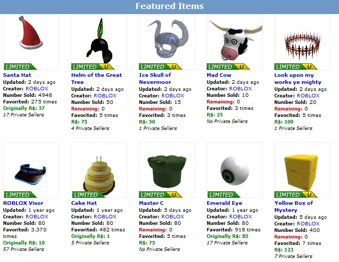 Roblox On Twitter These Items Are Rare Nine Years Ago Roblox