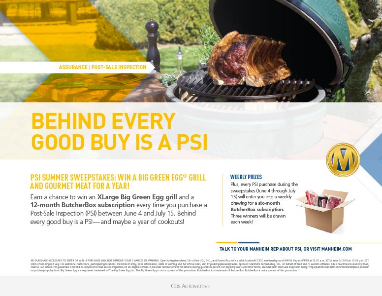 prize xl big green egg grill a 12 month butcherbox subscription or 3 weekly prizes don t forget behind every good buy is a psi
