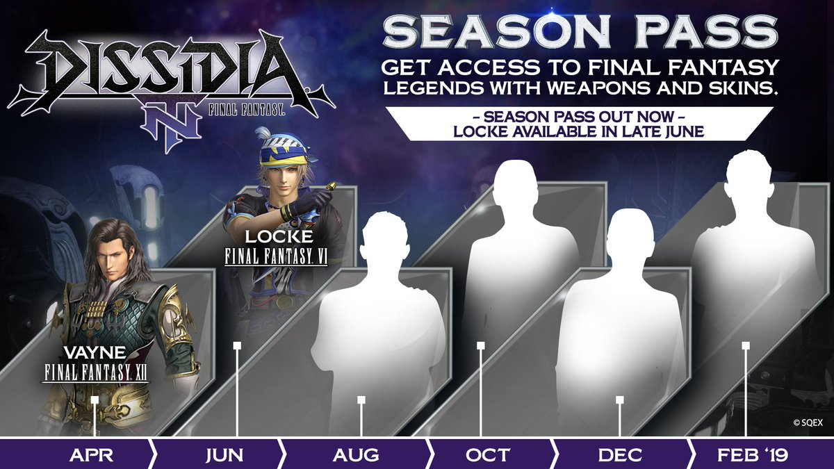 Its 1st June which means Locke from FFVI will be entering the #Dissidia FFNT arena later this month!