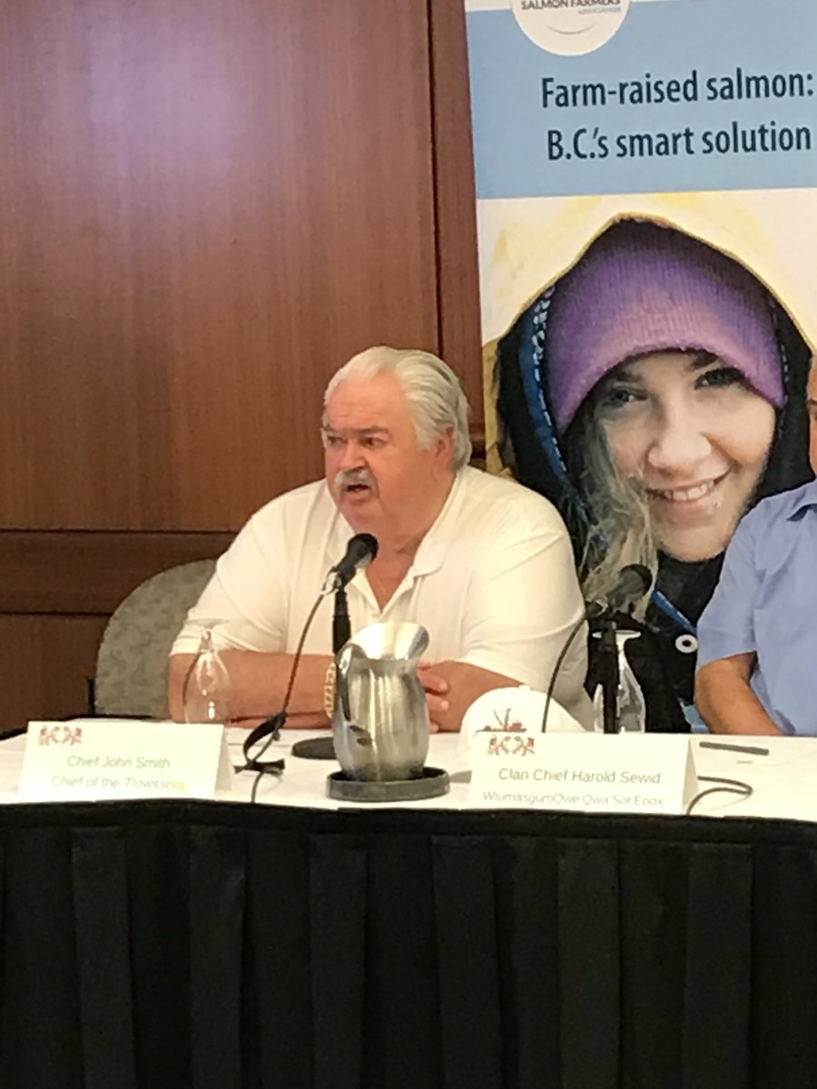 Bc Salmon Farmers On Twitter Chief John Smith Of The Tlowitsis Nation Speaking Passionately About The Positive Impact Of Salmon Farming In His Community Https T Co Soqqvpkuni