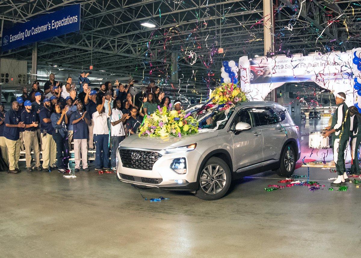 Hyundai Usa On Twitter Production Of The 2019 Hyundaisantafe
