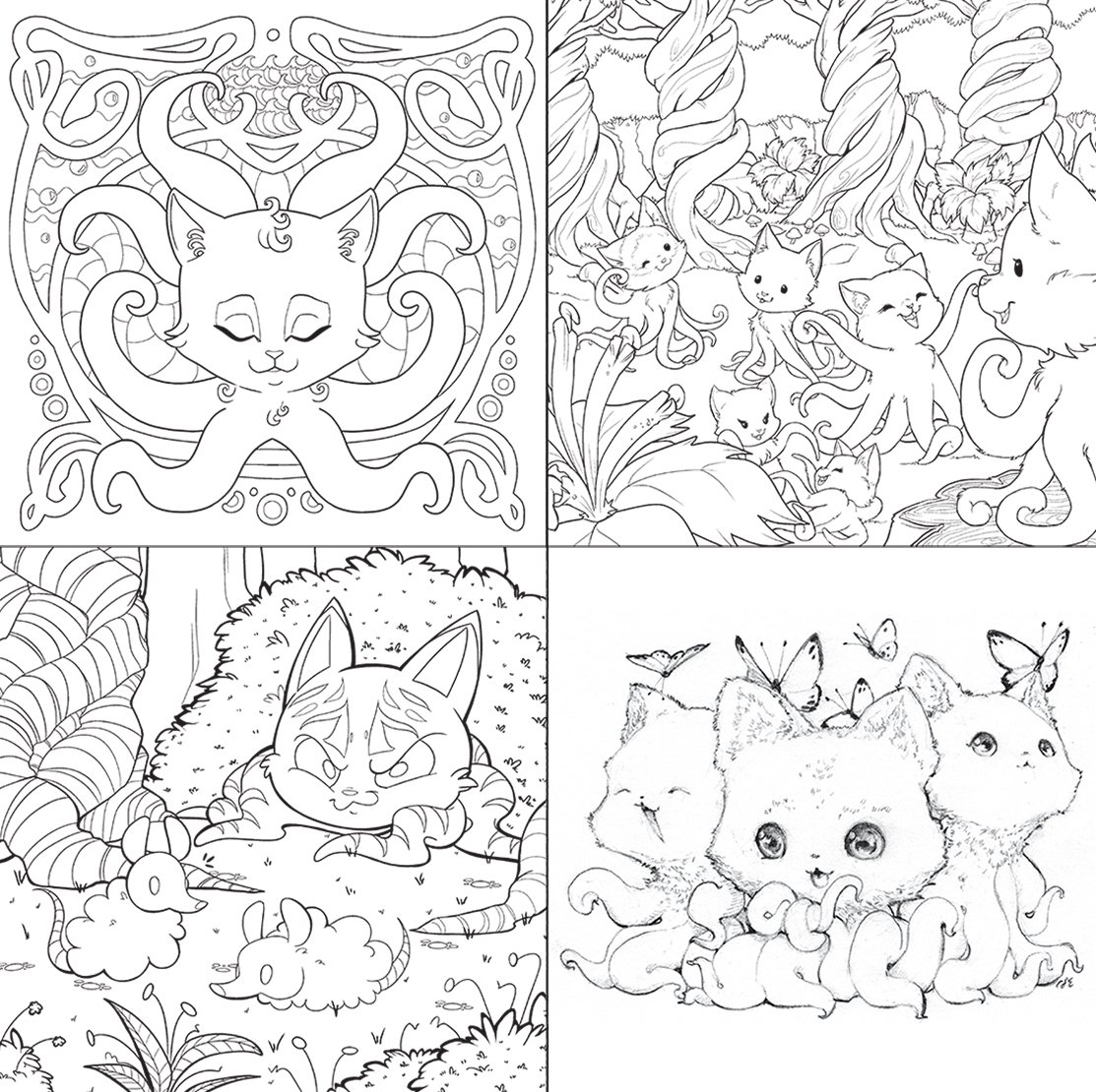 4400 Tentacle Kitty Coloring Book Free