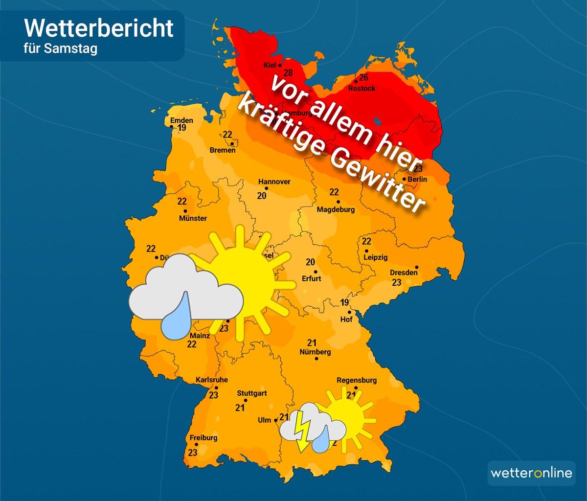 Wetteronlinede On Twitter Morgen Erneut Gewitter Vor Allem Im
