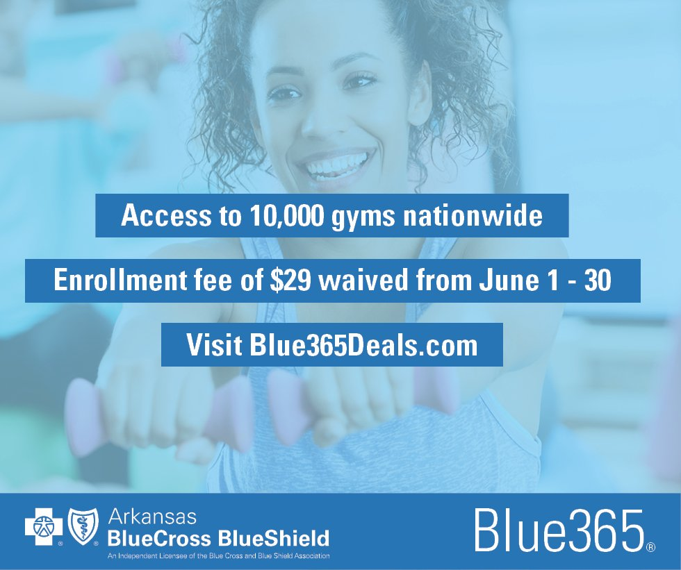 Arkansas blue cross and blue shield arkbluecross twitter arkansas blue cross members have access to gymmembership discounts through blue365 and during the month of june the enrollment fee will be waived malvernweather Gallery