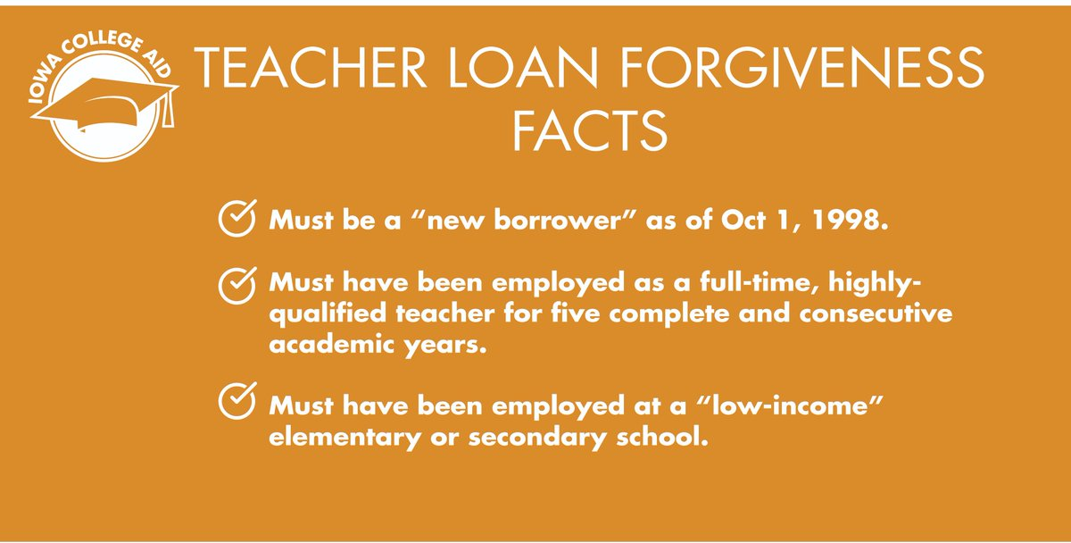 Iowa College Aid On Twitter Are You A Teacher Do You Have Federal