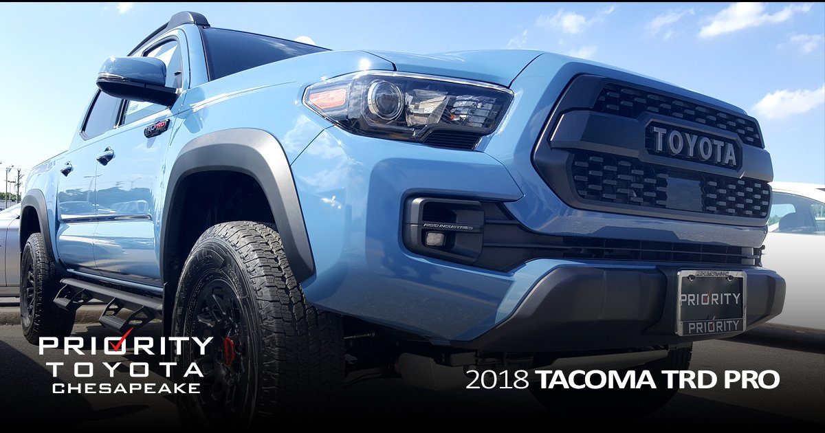 Priority Toyota Chesapeake On Twitter Our Tacoma TRD Pro Has - Virginia beach car show 2018