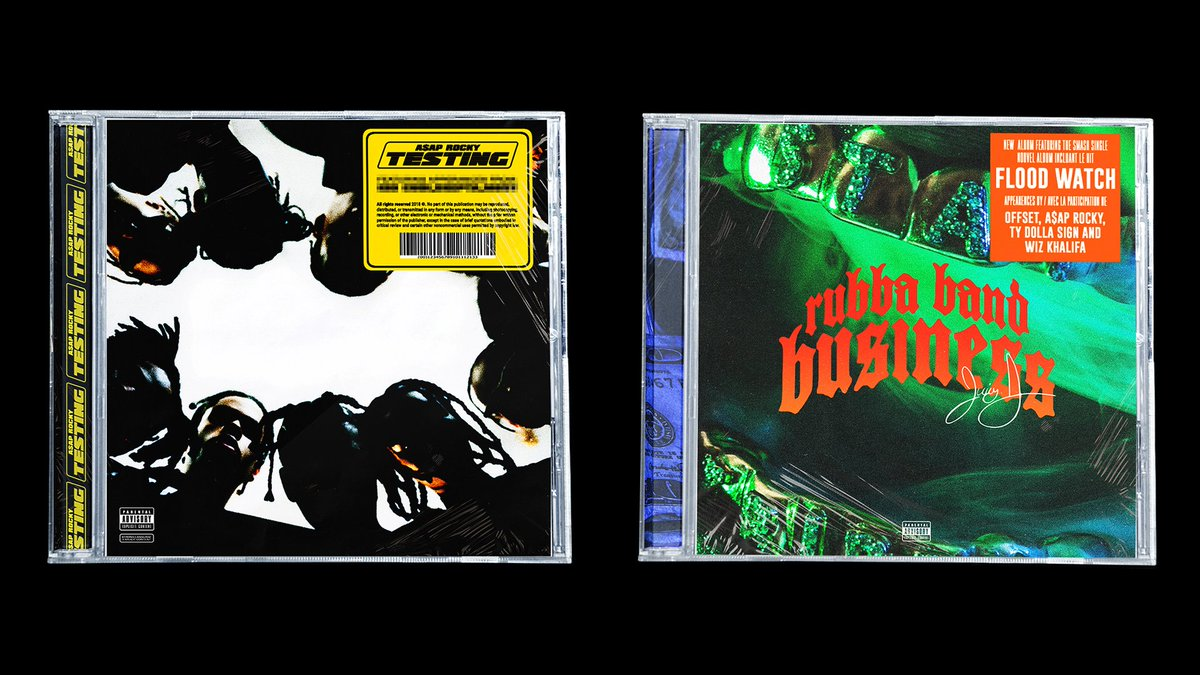 A$AP Rocky & Juicy J albums designed by Niko Nice for MOONBASE