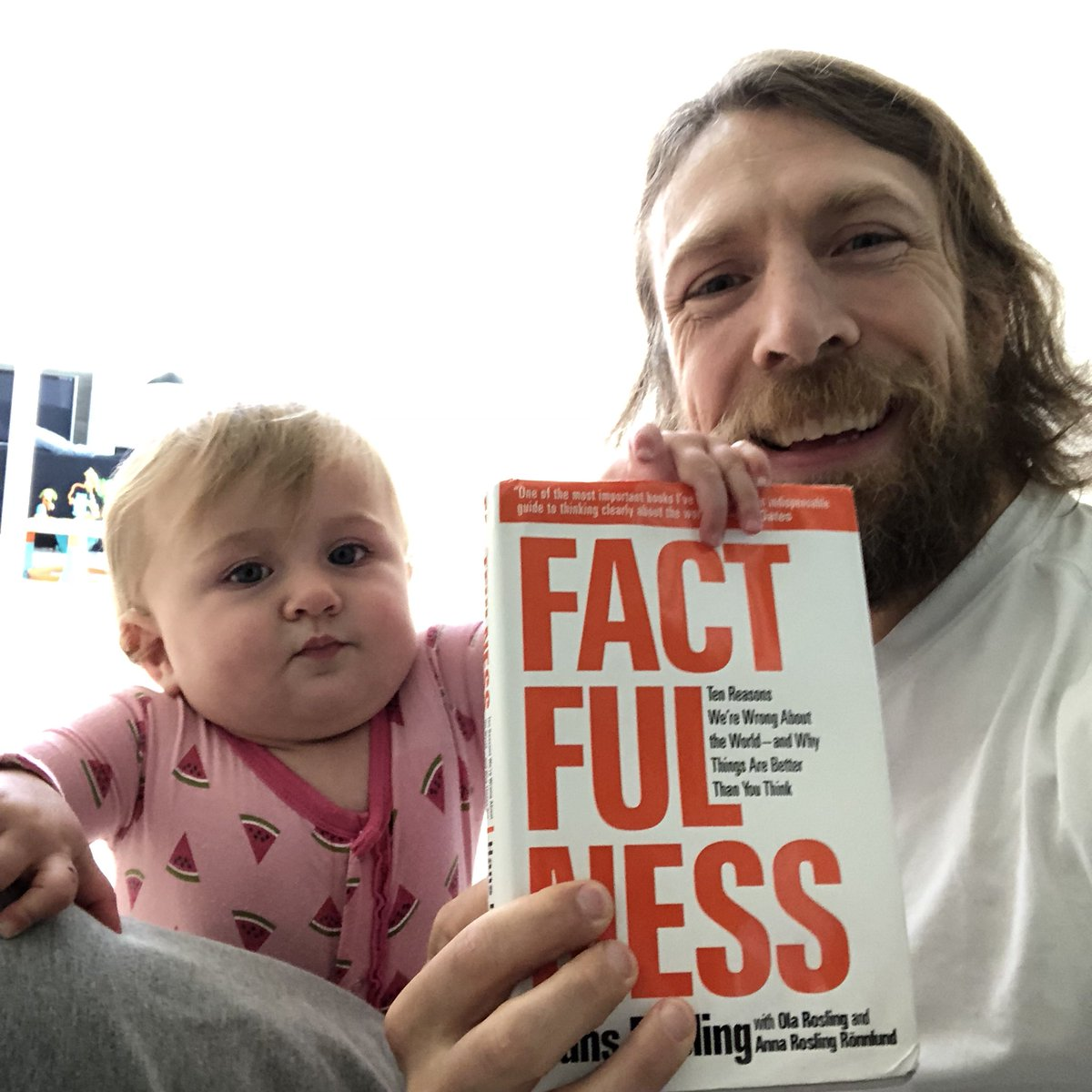 Hey guys, remember my book club? If you want to win a copy of our first book club book, Factfulness, just share a photo of you reading any book & use the hashtag #WhyNotNowReadABook. @amyjomartin & I are picking winners randomly. Thanks for the books @Flatironbooks!
