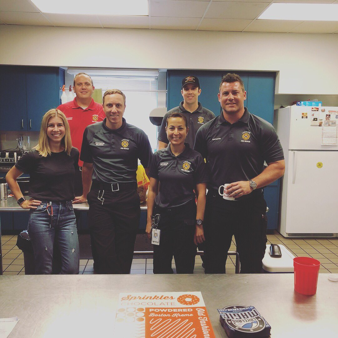 Today we celebrated #nationaldonutday by visiting Lakeland's First Responders. Thanks for all you do! 🍩