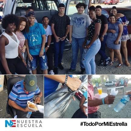 El Círculo de nuevo ingreso, #Azairus de #NuestraEscuela en #Loíza, estuvo entregando alimentos a Personas sin hogar en Río Piedras. Así aprendiendo #solidaridad y #compasión. Es así que se hace patria. #TodoPorMiEstrella