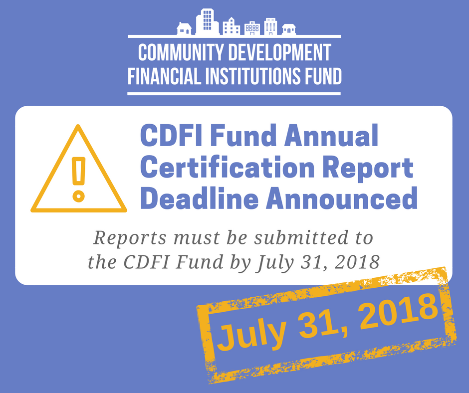 Inclusiv On Twitter Cdfi Fund Released Annual Certification Report