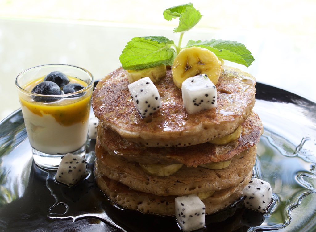 Fluffy Pancakes The fluffy goodness of golden pancakes served with sour cream and blueberry compote. Topped off with maple syrup and fresh fruits. Enjoy for breakfast through our in-room dining or for lunch and dinner at Terrace Café.  #FamilyResortPenang #DessertPenang https://t.co/yENM7WSFJw