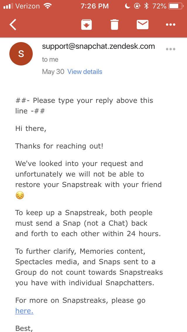 snapstreak support