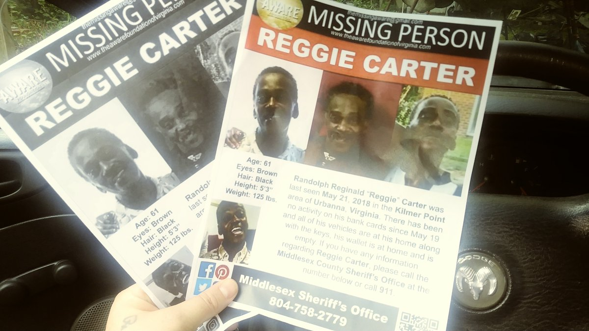 #MissingPerson #UrbannaVirginia #Middlesex County #ReggieCarter #AHomeBody #ReTweetpic.twitter.com/CUbh5zxu40