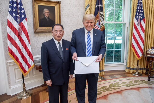 .@realDonaldTrump is smiling next to a man who runs a gulag jailing some 200,000 North Koreans and who oversaw the sinking of a South Korean Navy ship killing 46 & the hacking of Sony North America.