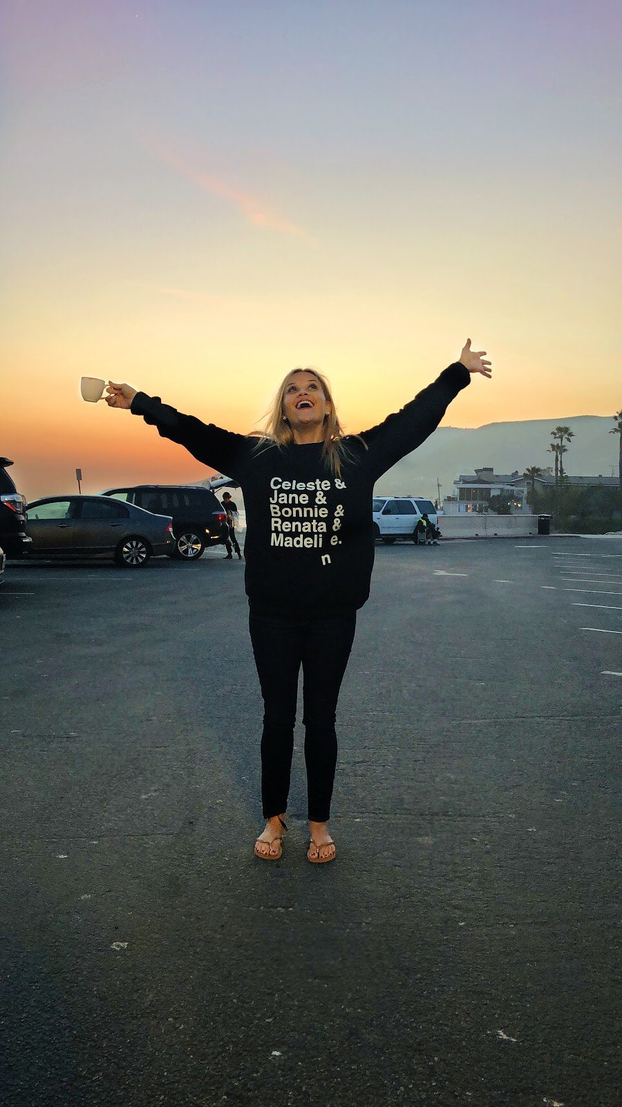 Beautiful sunset on set of #BigLittleLies! Feeling grateful! #TGIF https://t.co/leWFzSU7Rh