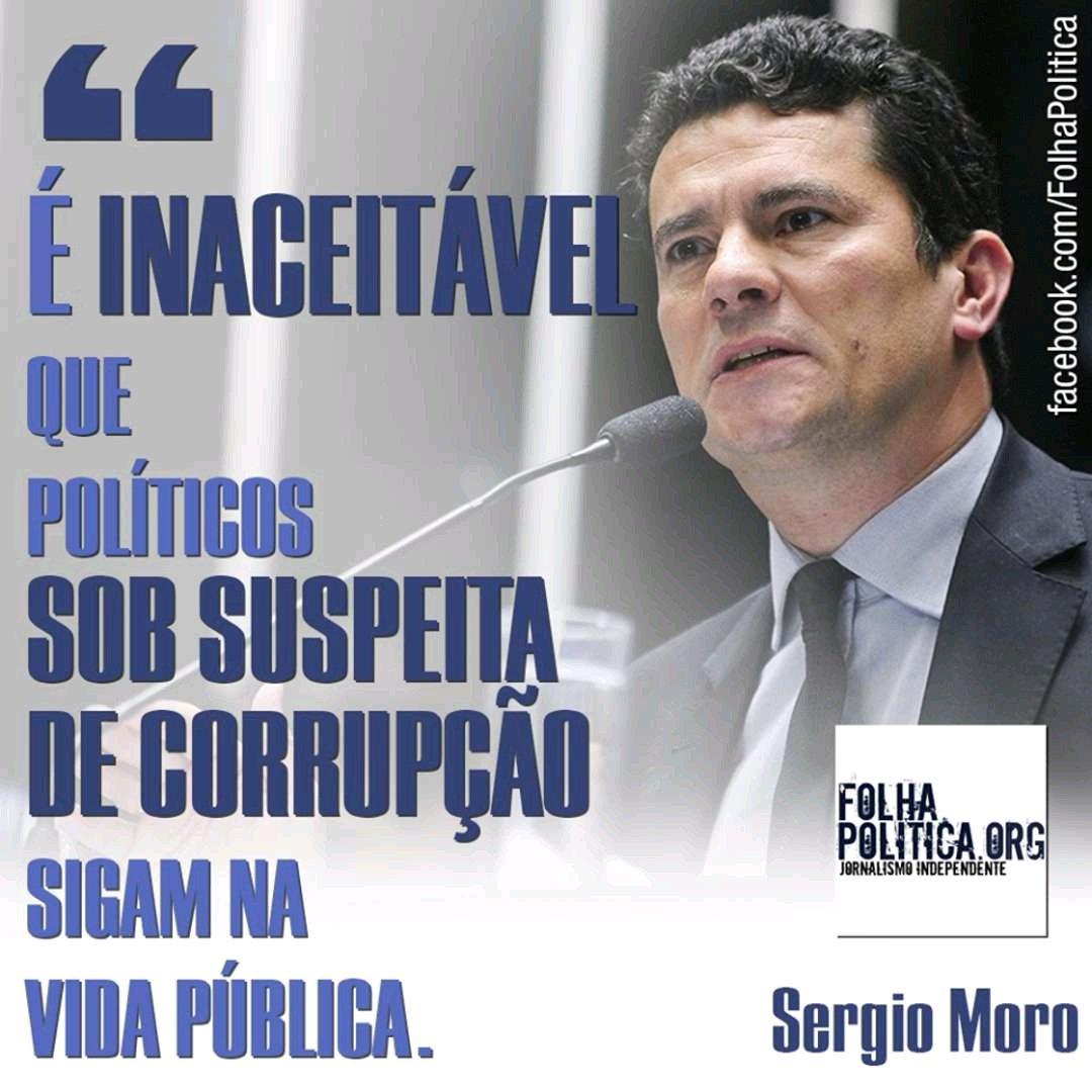 Resultado de imagem para é inaceitável que políticos sob suspeita de corrupção sigam na vida pública