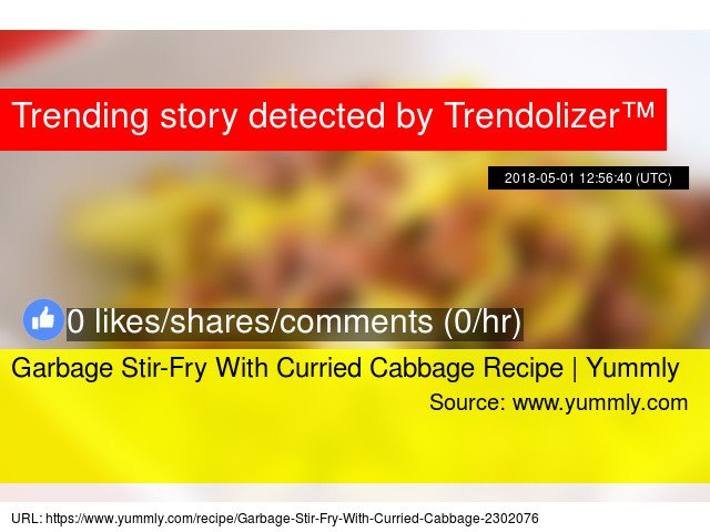 Garbage Stir-Fry With Curried Cabbage Recipe | Yummly #oliveoil #yummly https://t.co/5kHKUaAkUj https://t.co/1msdVd6PzI
