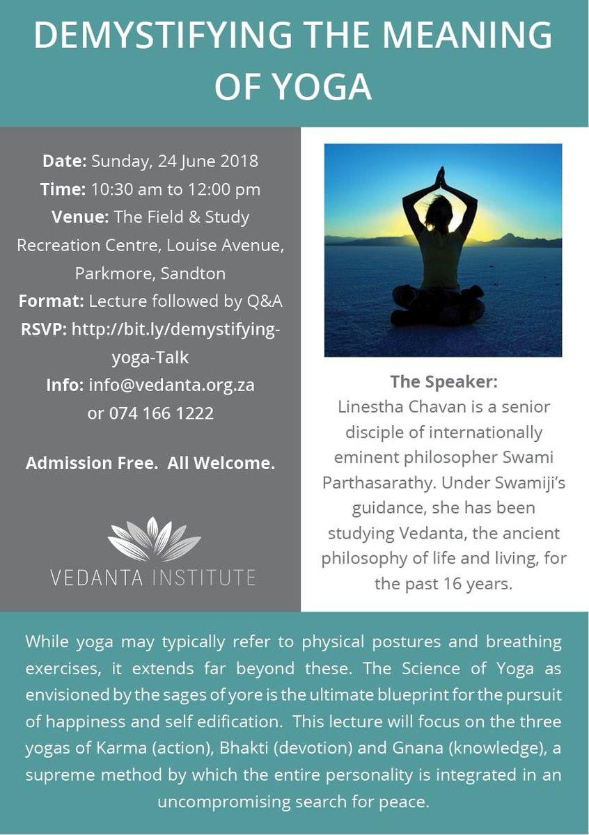 Vedanta Institute on Twitter: