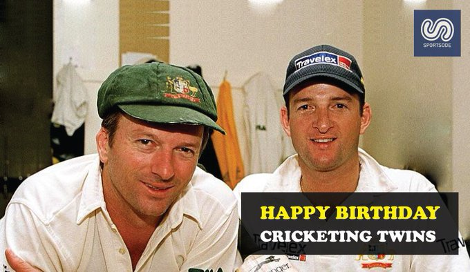 """Happy to \""""Cricketing Twins\"""" Steve Waugh and Mark Waugh"""