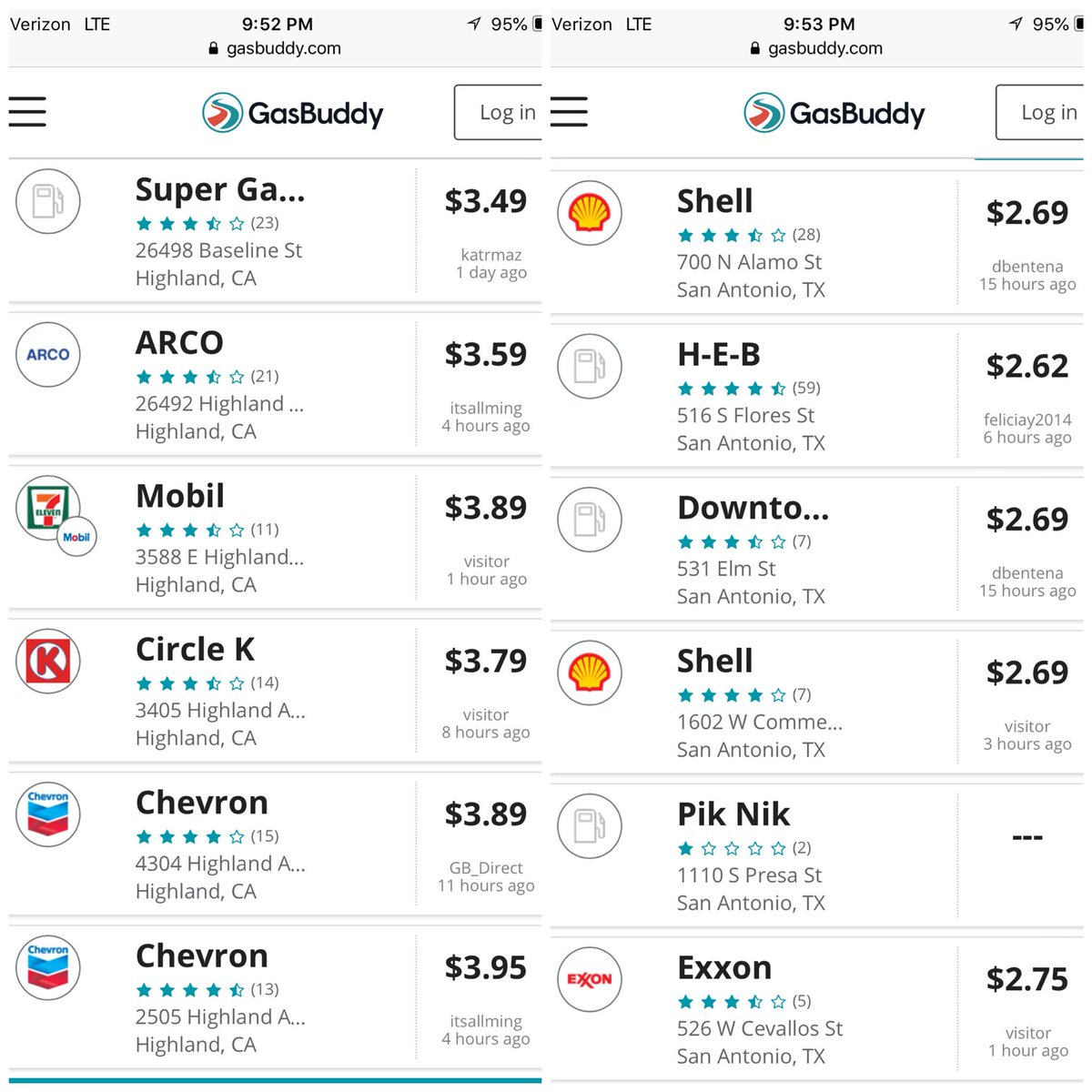 San Antonio Gas Prices >> Melissa Melendez On Twitter Today S Gas Prices Highland