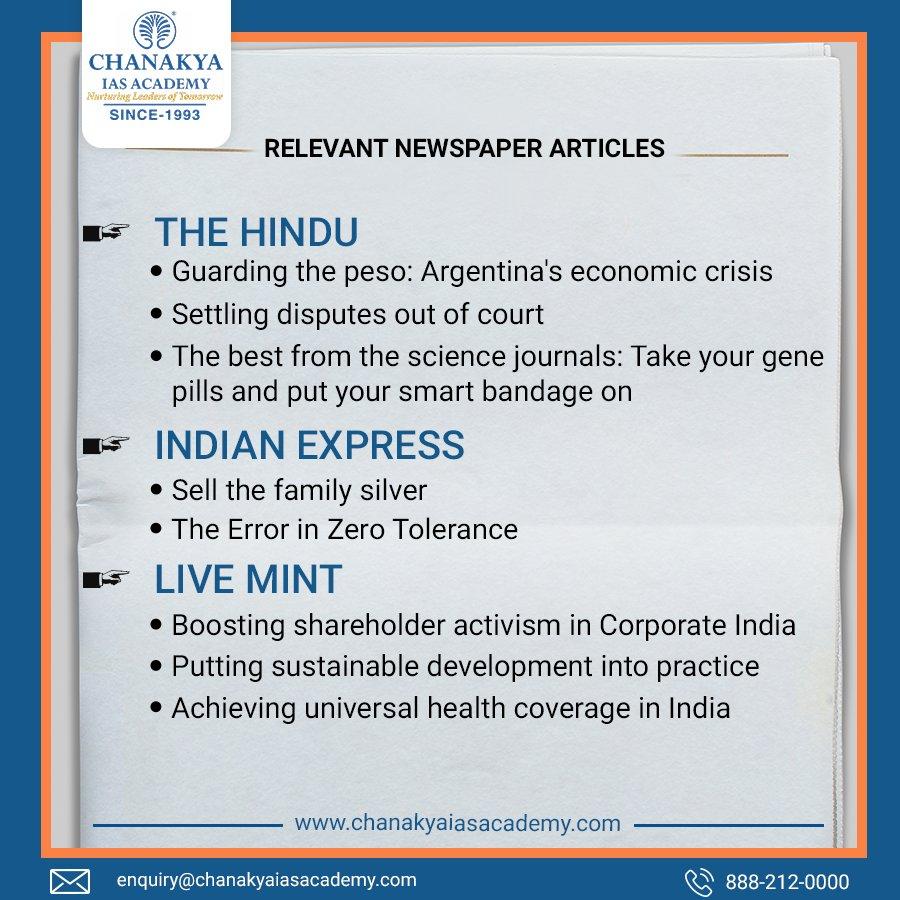 Chanakya IAS Academy on Twitter: